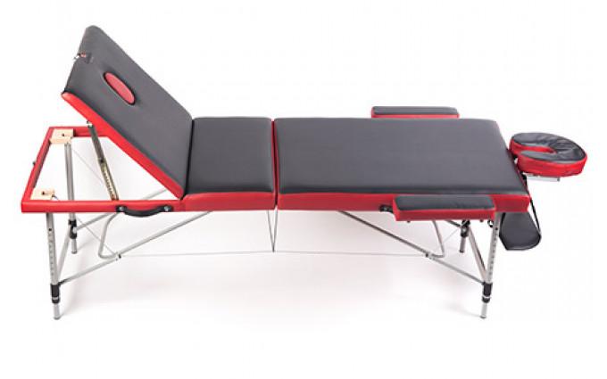 Трёхсекционный алюминиевый массажный стол Al-3-16