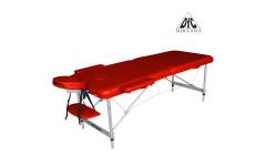 Массажный стол Dfc Nirvana, Elegant Optima,  186cm*W60cm*4cm, алюм. ножки, цвет красный (red)