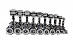 Набор гантелей хромированных 10 пар от 1 до 10 кг